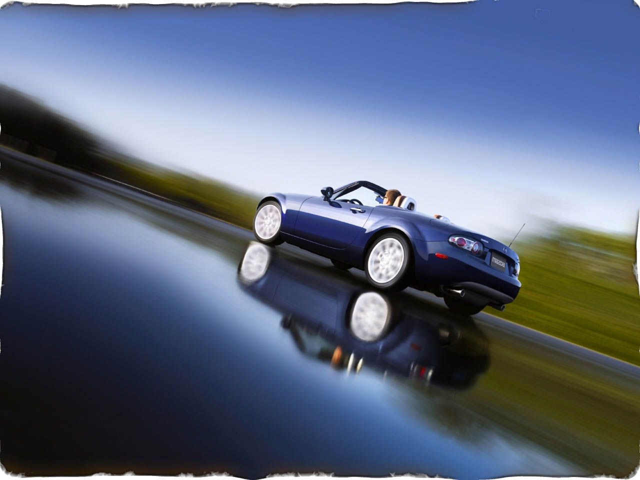 Mazda Mx5 Convertible Reflection Wallpaper 1280x960