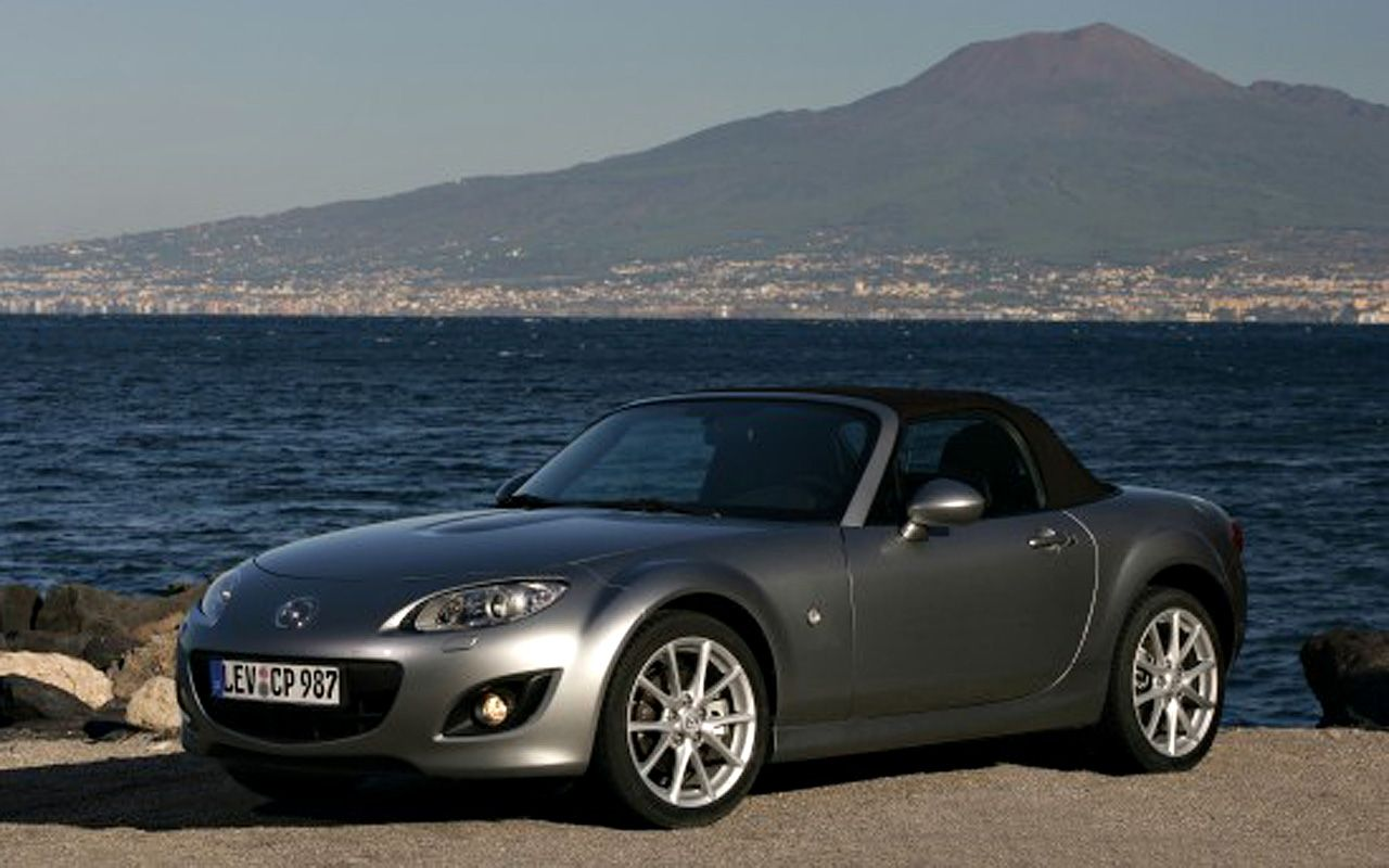 Mazda Mx5 Front Side Angle Sea Wallpaper 1280x800