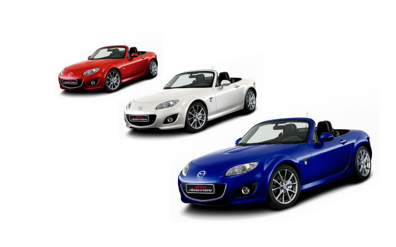 Mazda Mx5 Red White Blue Colors Wallpaper 1280x800