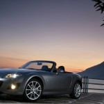 Mazda Mx5 Top Down Lights On Wallpaper
