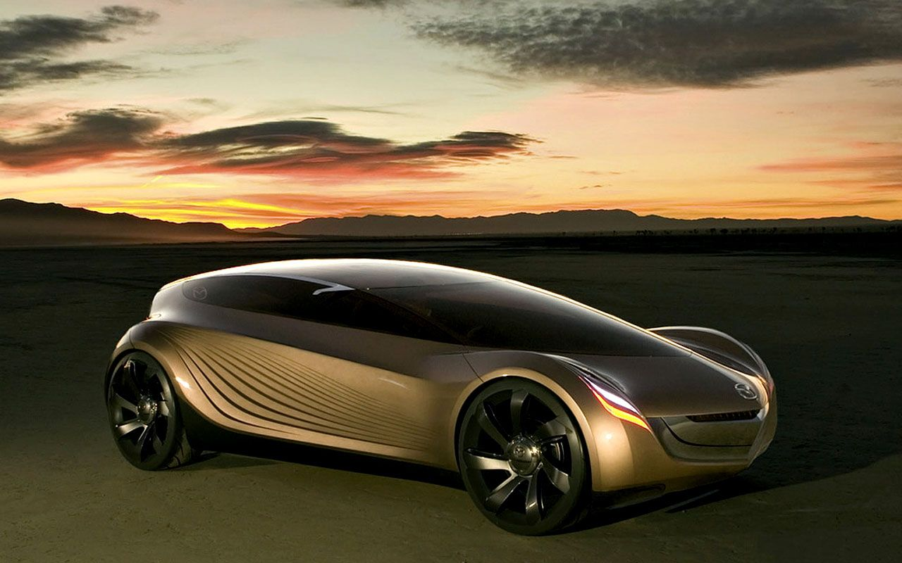 Mazda Nagare Concept Sunset Wallpaper 1280x800