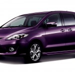 Mazda Premacy Violet Front Side Angle Wallpaper