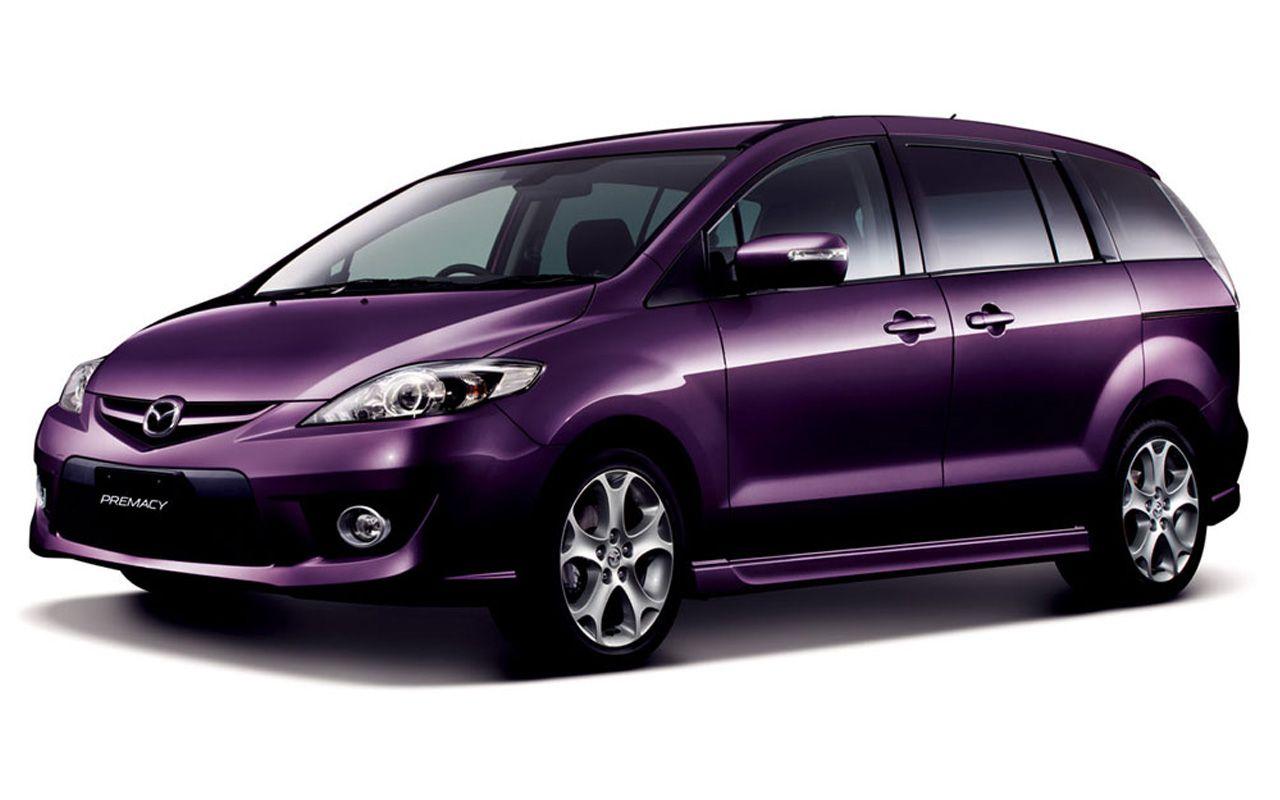 Mazda Premacy Violet Front Side Angle Wallpaper 1280x800