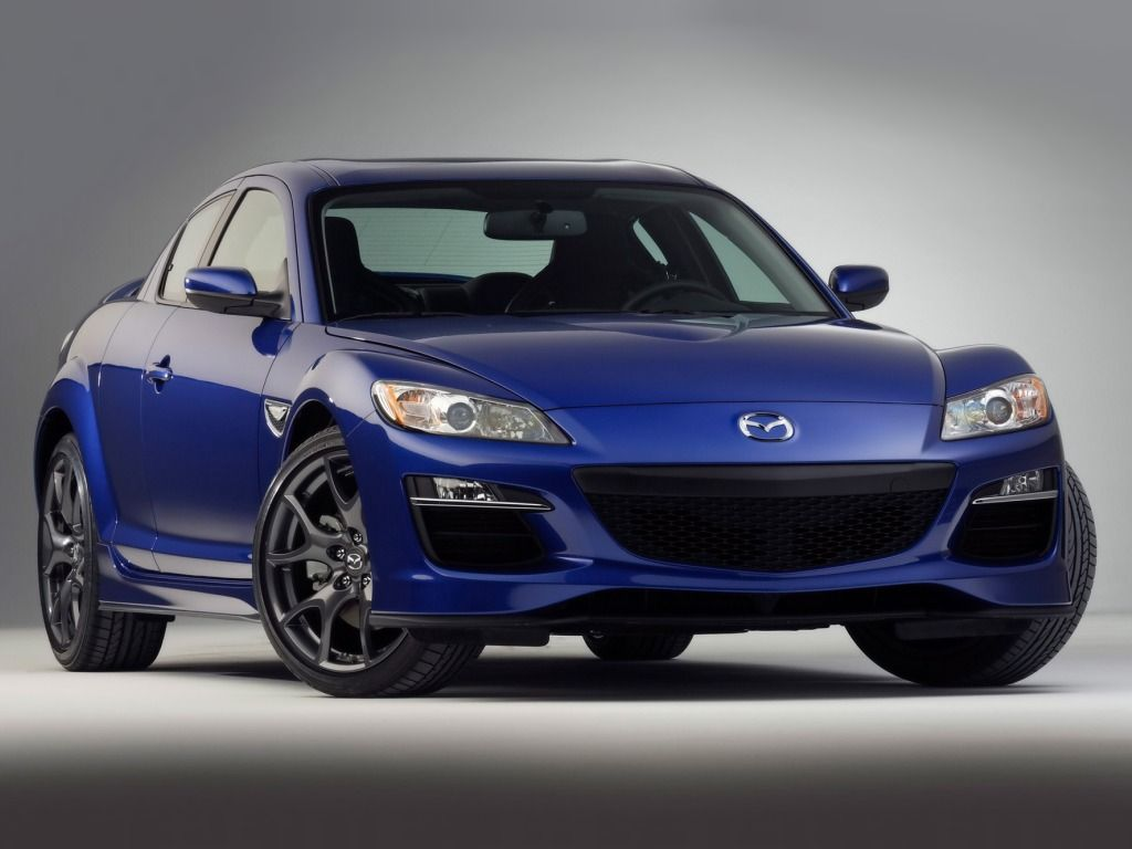 Mazda Rx8 Blue Front View Wallpaper 1024x768