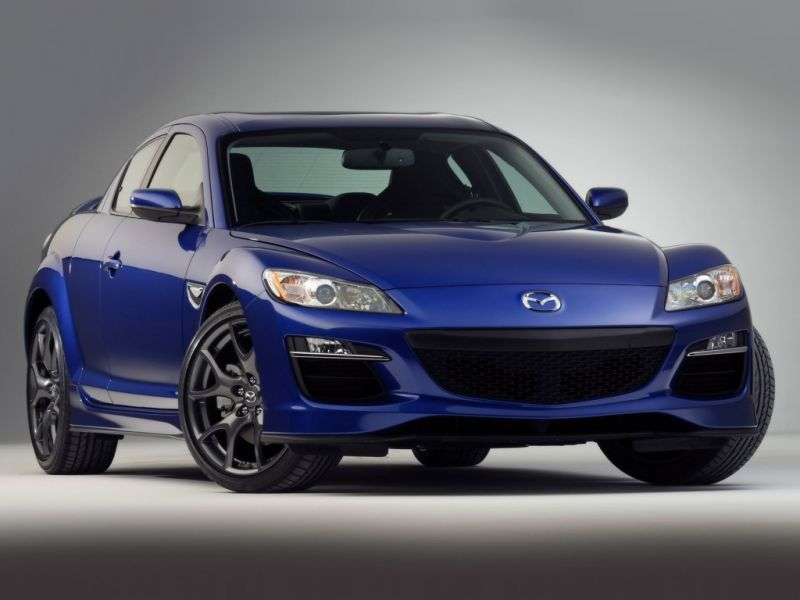 Mazda Rx8 Blue Front View Wallpaper 800x600