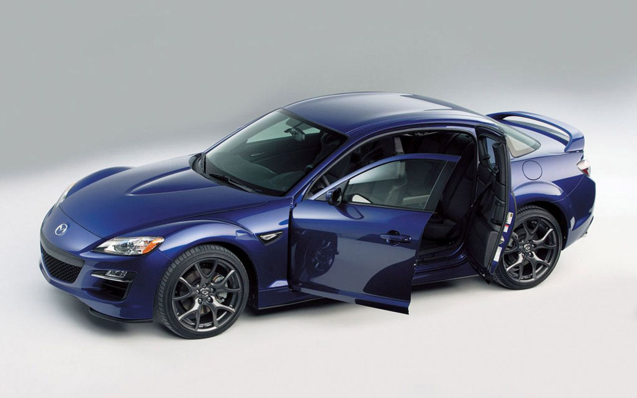 Mazda Rx8 Blue High Angle Doors Open Wallpaper 1280x800