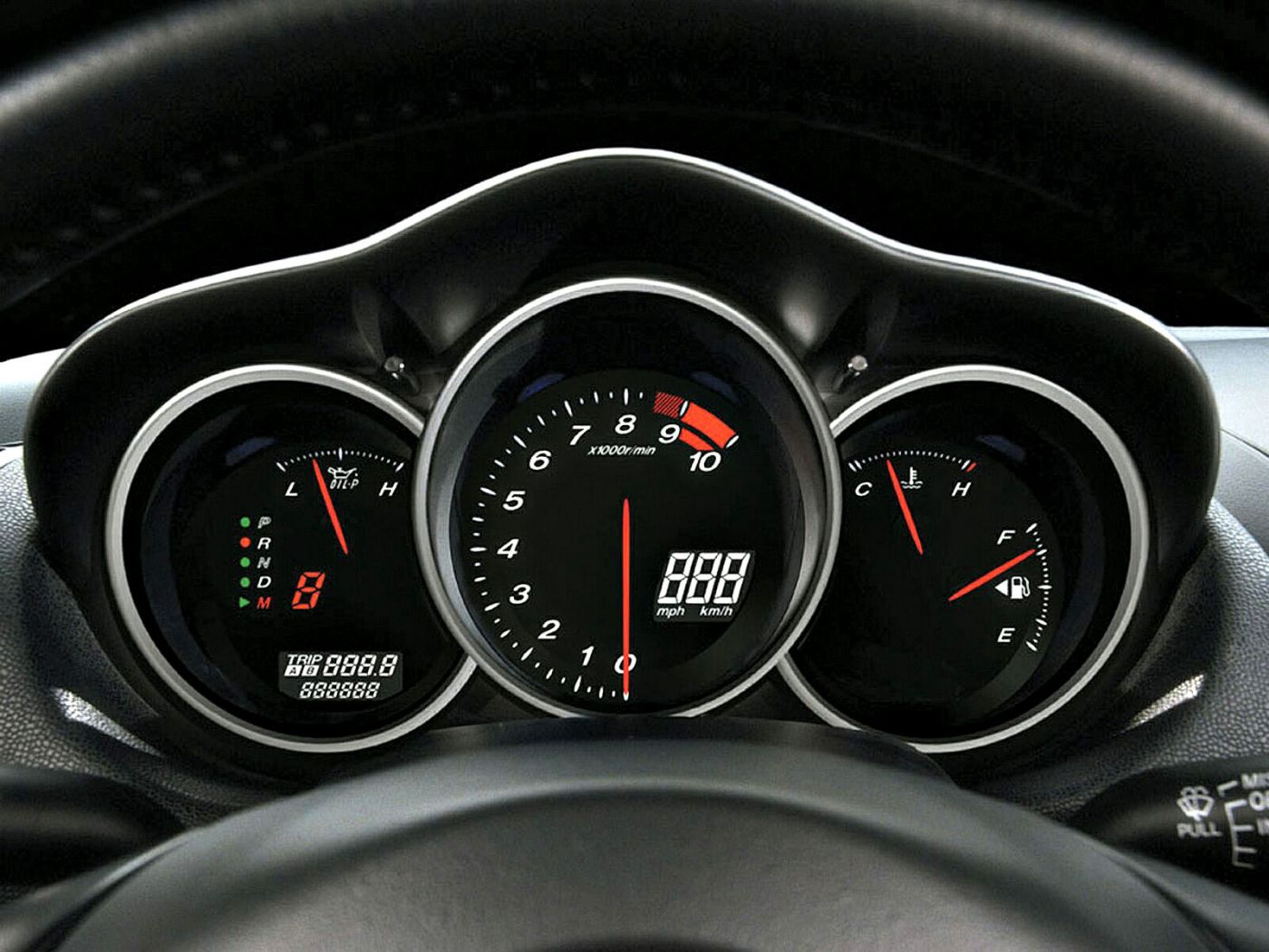 Mazda Rx8 Gauges Wallpaper 1400x1050
