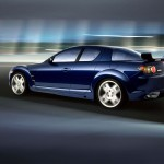 Mazda Rx8 Moving Blurred Background Wallpaper