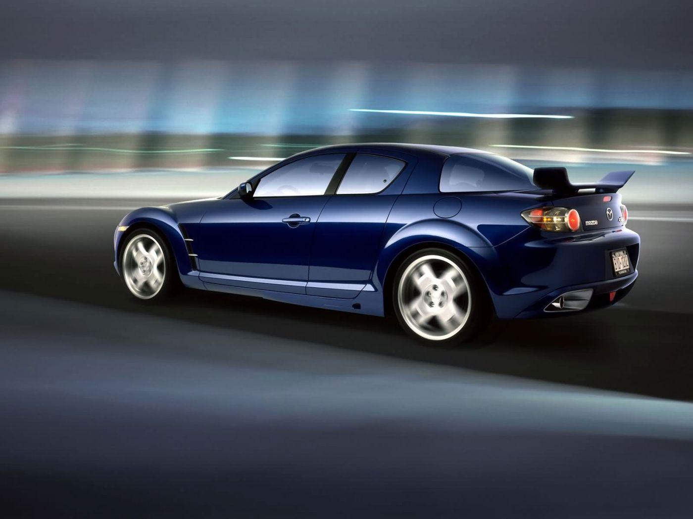 Mazda Rx8 Moving Blurred Background Wallpaper 1400x1050