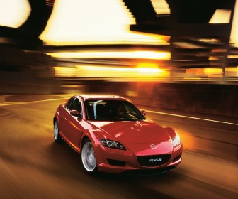 Mazda Rx8 Red Front Angle Moving Wallpaper