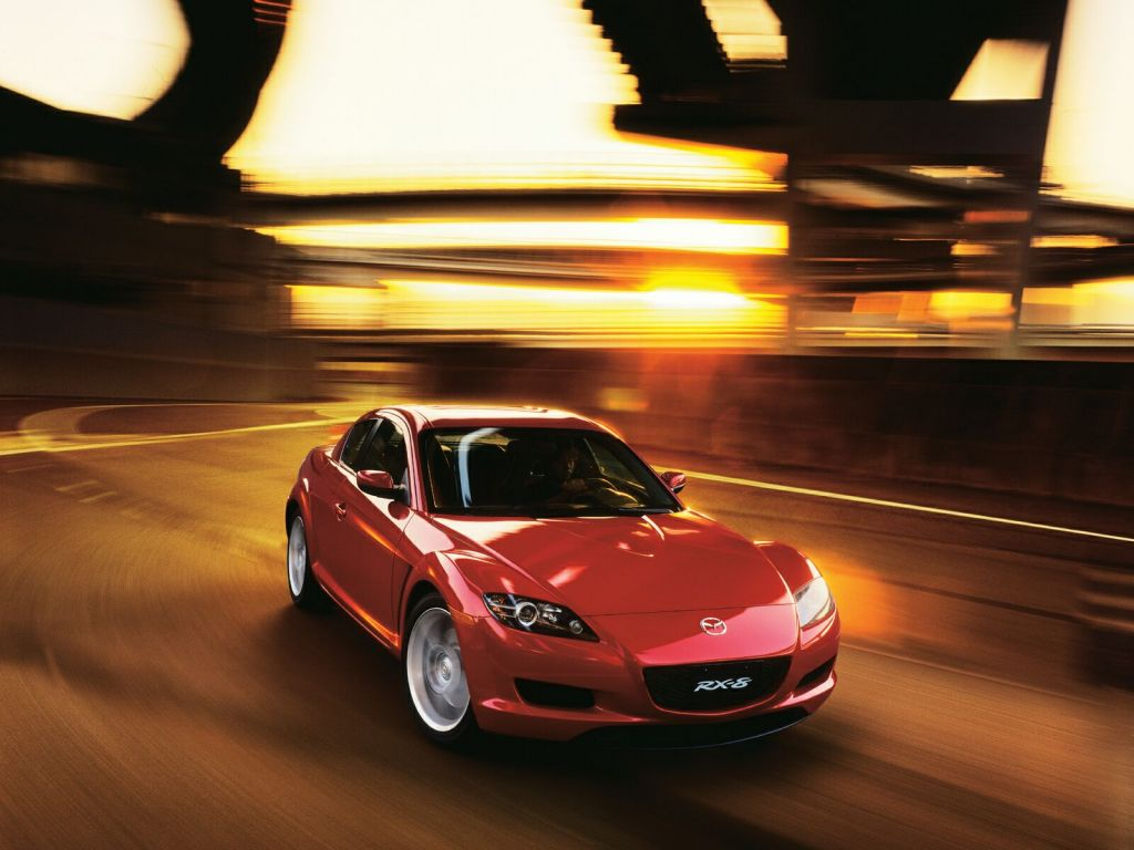 Mazda Rx8 Red Front Angle Moving Wallpaper 1024x768