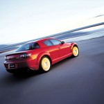 Mazda Rx8 Red Rear Side Angle Moving Wallpaper