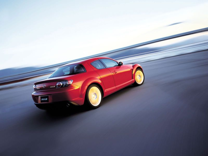 Mazda Rx8 Red Rear Side Angle Moving Wallpaper 800x600