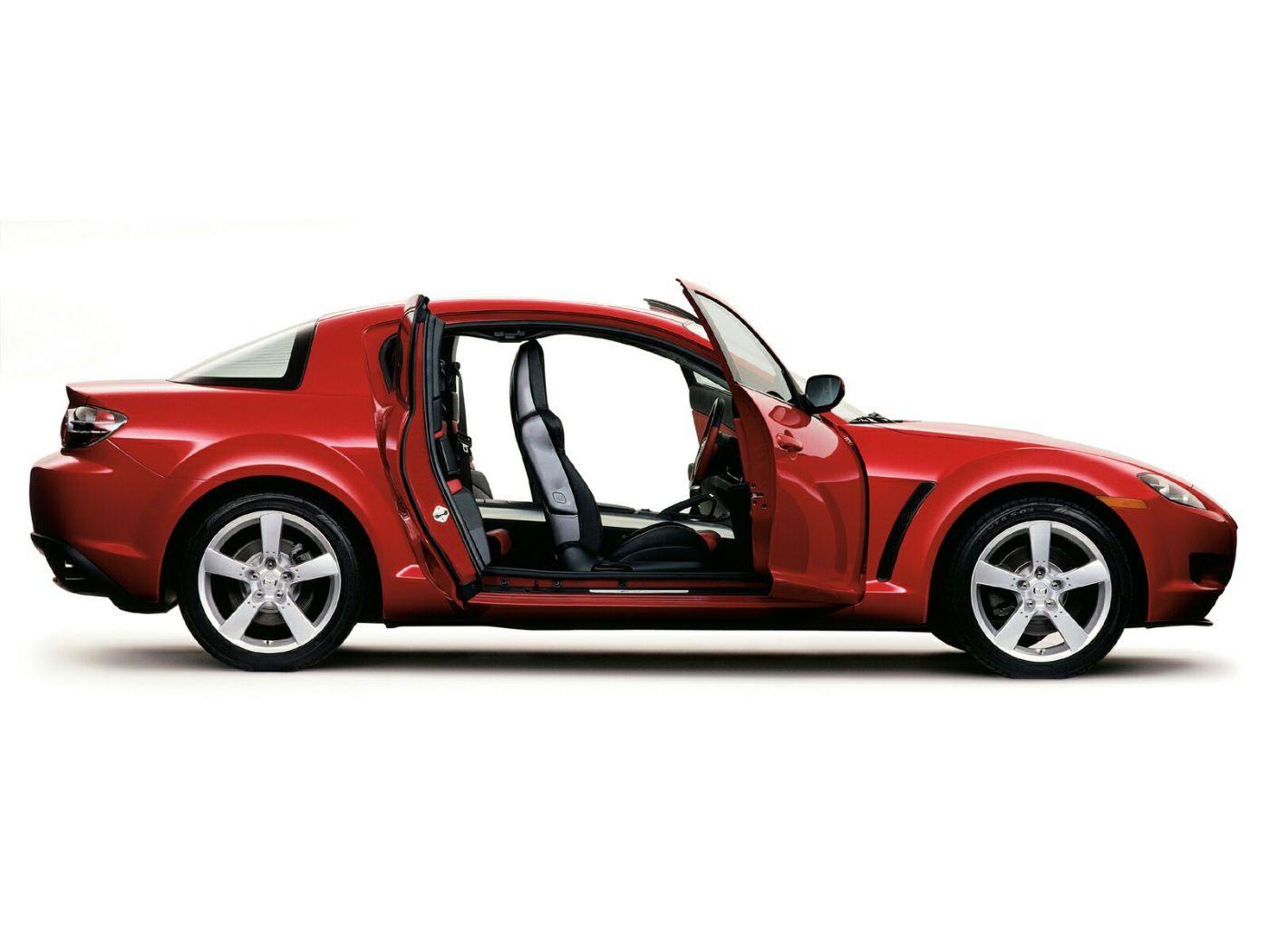 Mazda Rx8 Side View Doors Open Wallpaper 1400x1050