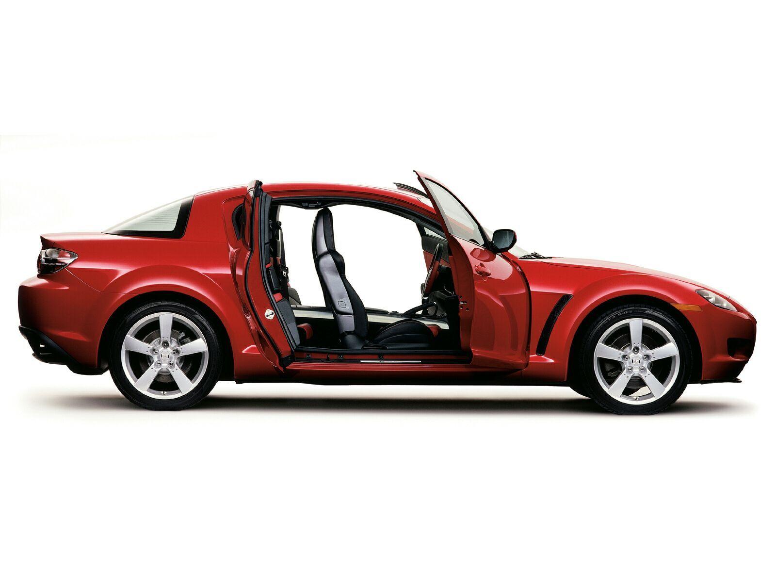 Mazda Rx8 Side View Doors Open Wallpaper 1600x1200