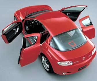 Mazda Rx8 Top View Doors Open Wallpaper