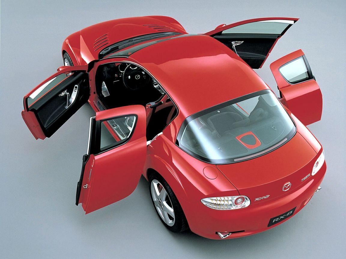 Mazda Rx8 Top View Doors Open Wallpaper 1152x864