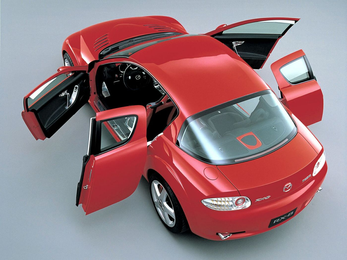 Mazda Rx8 Top View Doors Open Wallpaper 1400x1050