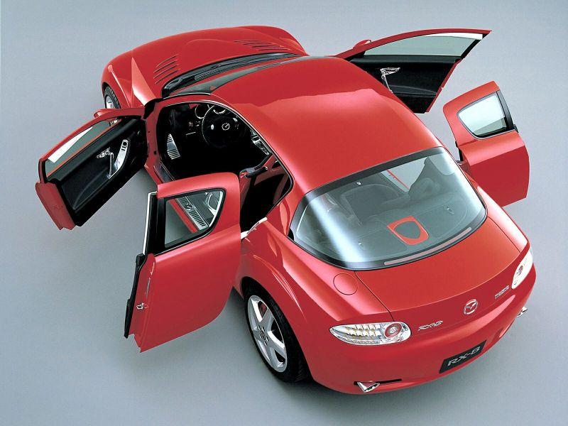Mazda Rx8 Top View Doors Open Wallpaper 800x600