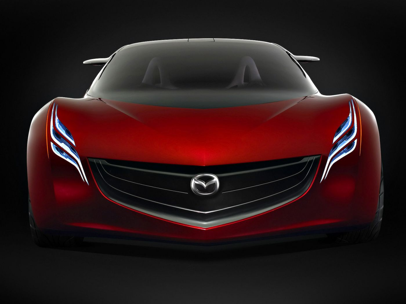 Mazda Ryuga Concept Full Front View Wallpaper 1400x1050