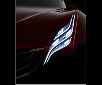 Mazda Ryuga Concept Headlight Close Up Wallpaper