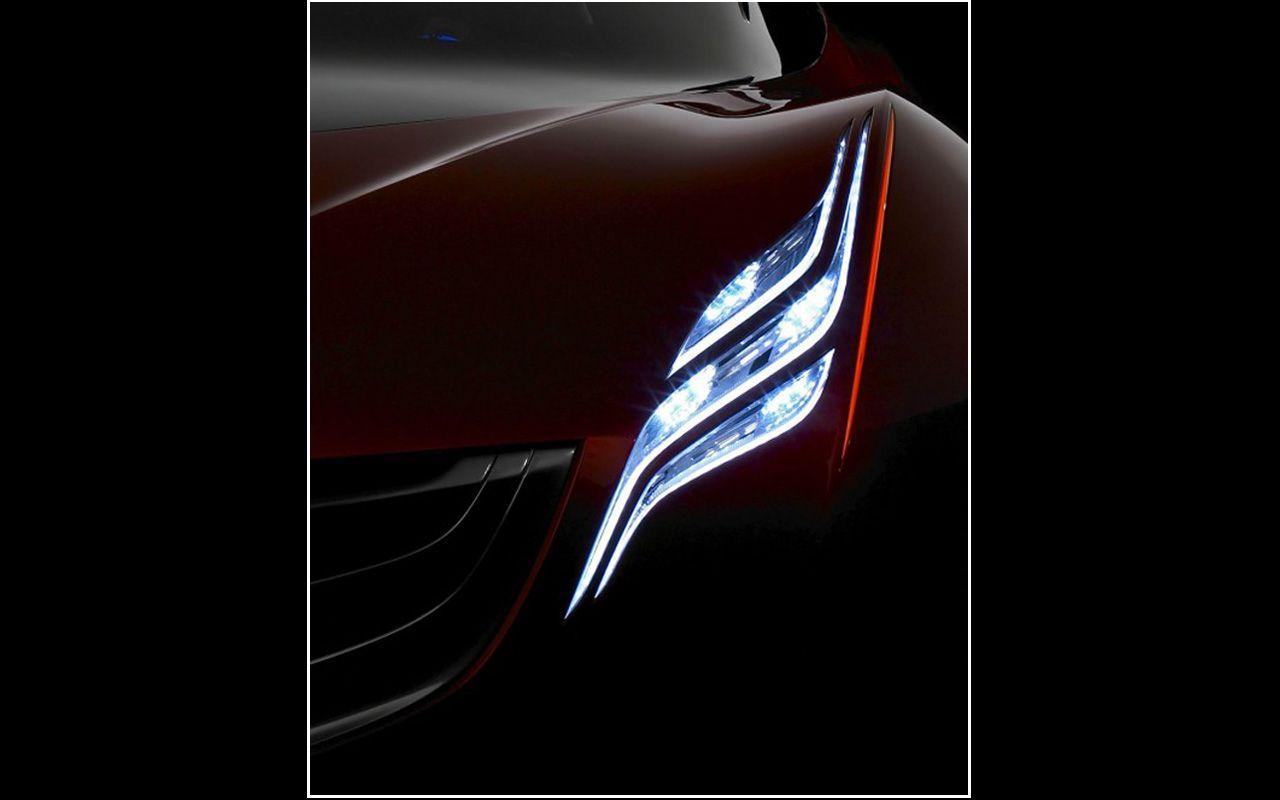 Mazda Ryuga Concept Headlight Close Up Wallpaper 1280x800