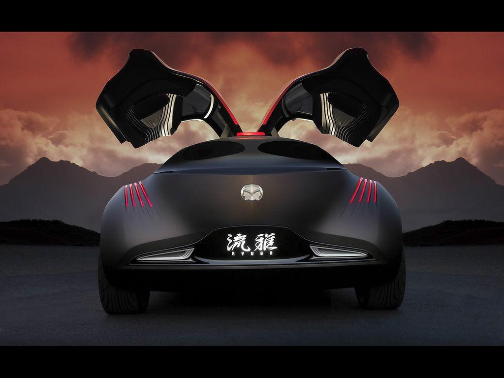 Mazda Ryuga Concept Rear View Wallpaper 1024x768