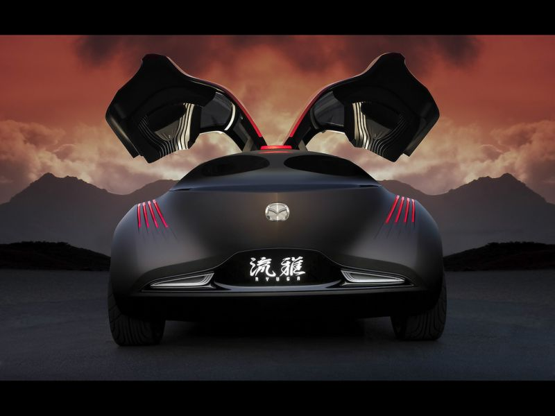 Mazda Ryuga Concept Rear View Wallpaper 800x600