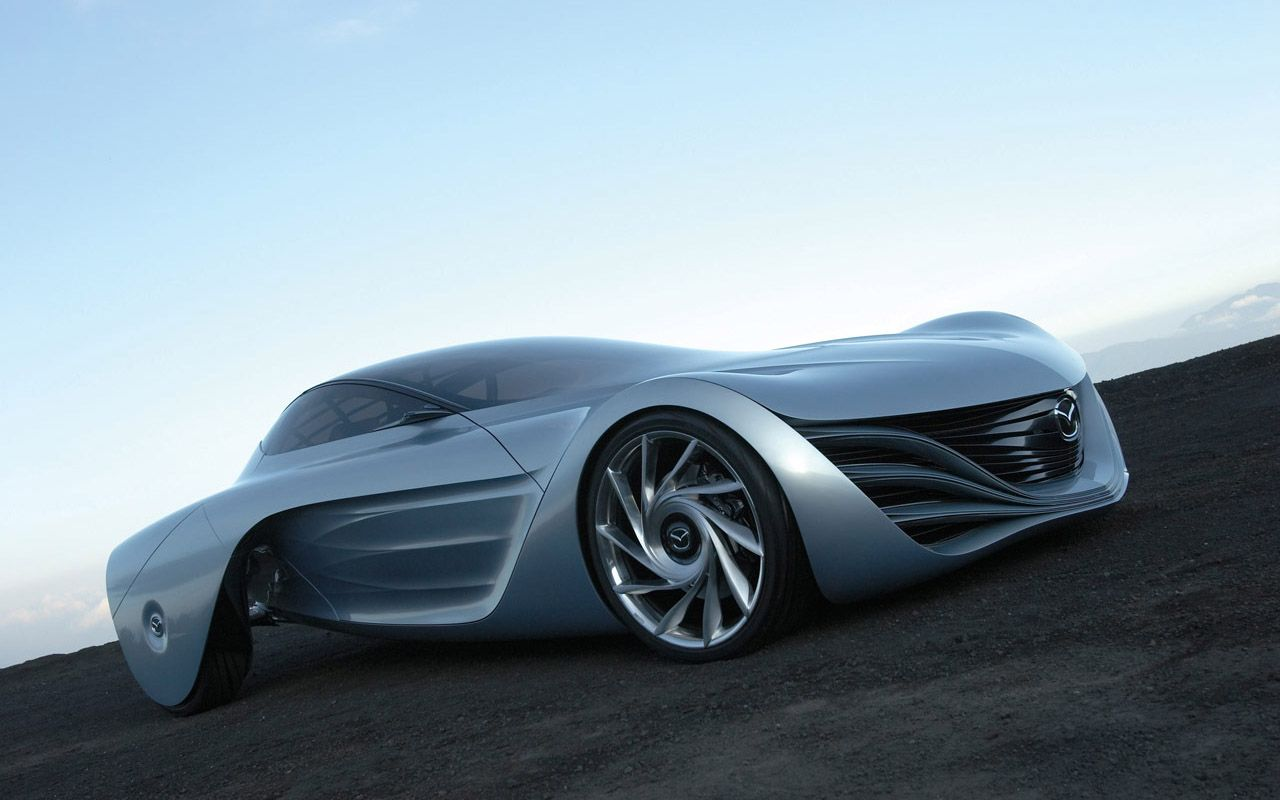 Mazda Taiki Concept Front Side Low Angle Wallpaper 1280x800